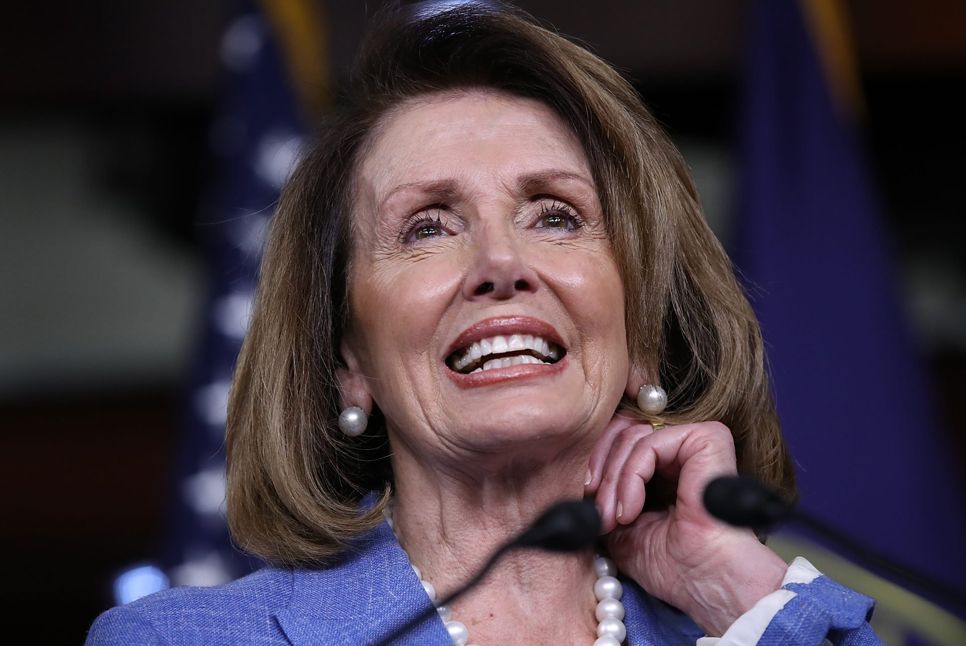 MORE Pelosi brain freezes marred words  confuses thousands and trillions VIDEO