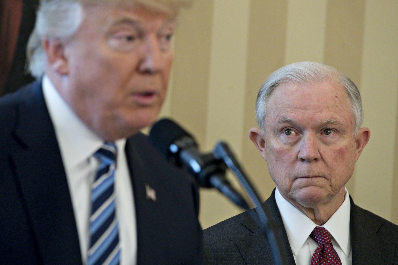Trump takes swipe at his DOJ over illegal immigrant licenses case in Arizona
