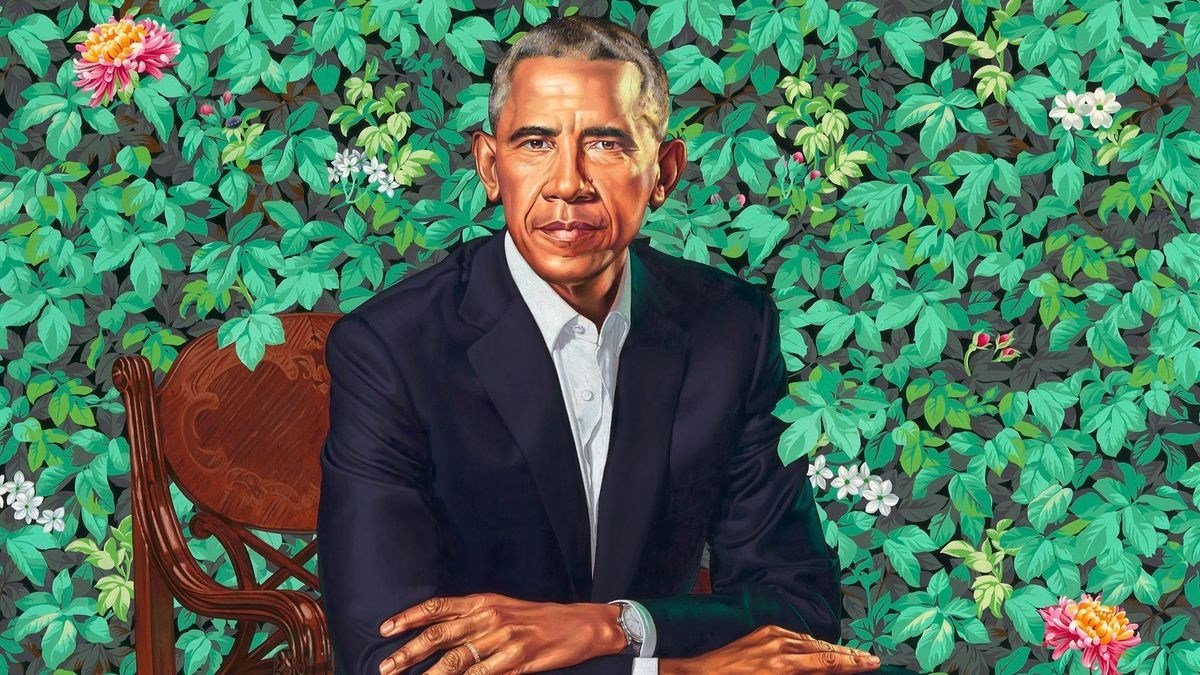 "Some people were caught off guard by the colorful portrait of Barack Obama unveiled at the National Portrait Gallery on Monday, but artist Kehinde Wiley's explanation of the significance of certain aspects of the painting adds a much deeper meaning. ""Over the course of the past year, I have had the life-changing honor of painting President Obama's portrait …"