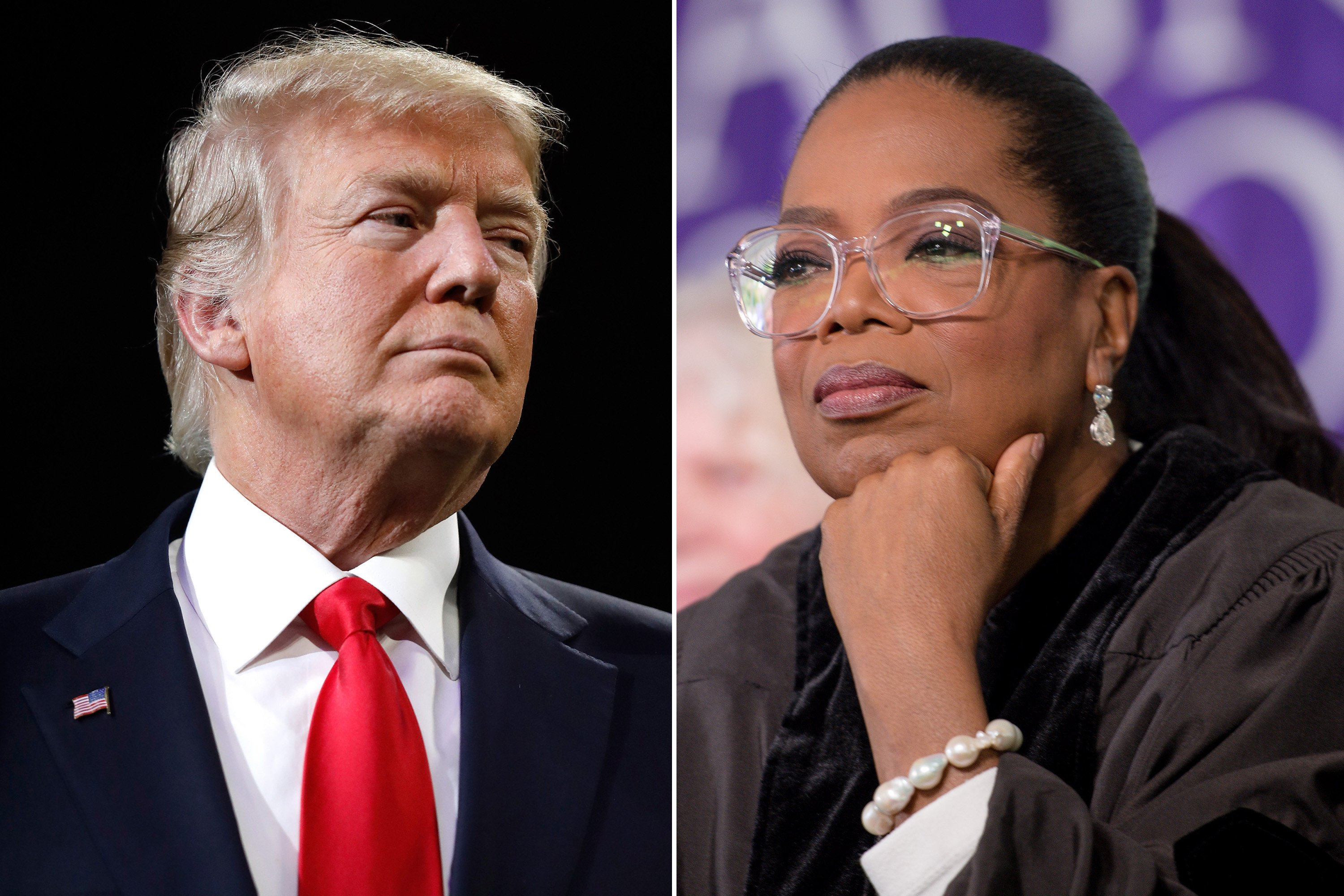 "President Donald Trump went after ""very insecure"" Oprah Winfrey on Sunday, tweeting that he hopes to see her run for president so ""she can be exposed and defeated."" ""Just watched a very insecure Oprah Winfrey, who at one point I knew very well, interview a panel of people on 60 Minutes,"" Trump tweeted Sunday night. …"