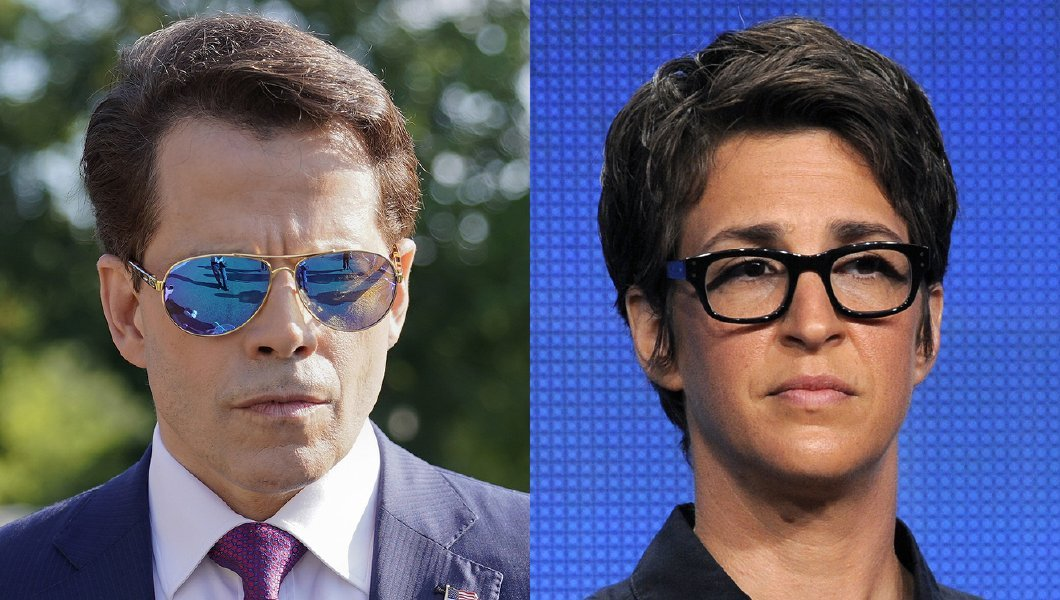 Anthony Scaramucci apologizes to MSNBCs Rachel Maddow for saying she should take a suppository
