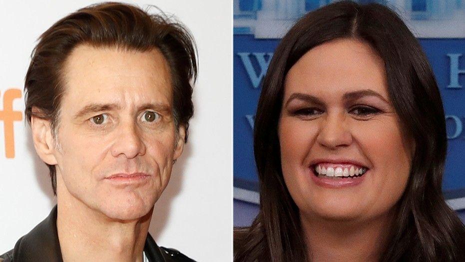 Jim Carrey slammed for disgraceful garish portrait of Sarah Sanders
