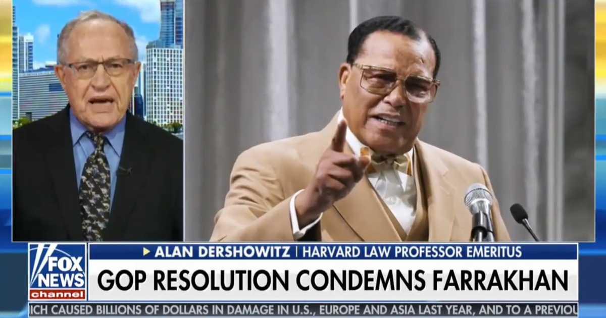 WATCH Alan Dershowitz Calls For Firing Of DNC Deputy Chairman Keith Ellison Over His Ties To AntiSemitic Bigot Louis Farrakhan