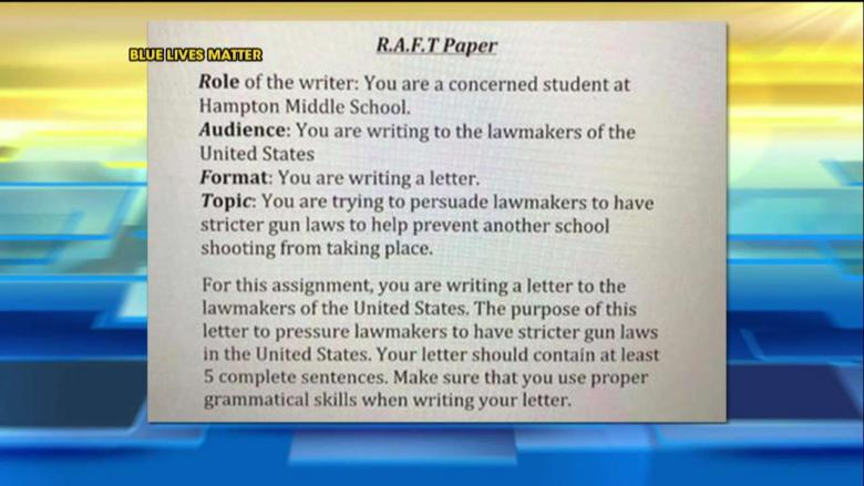 GA Teacher Assigns Students to Write Letters to Lawmakers Pushing for Gun Control VIDEO