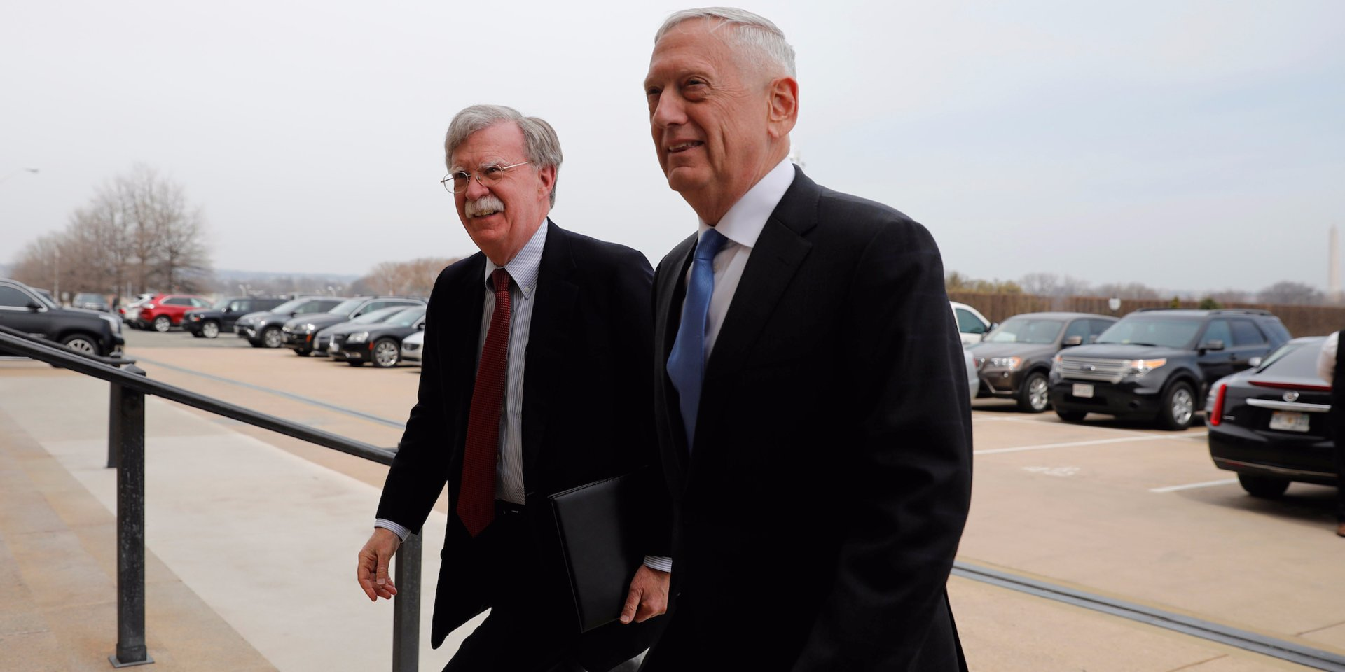 WATCH Mattis told new national security adviser John Bolton that he heard he was the devil incarnate in offmic moment when they fist met at the Pentagon