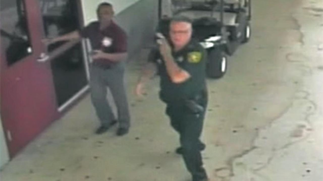 Broward Deputy Scot Peterson seen standing outside during Florida school shooting in new video
