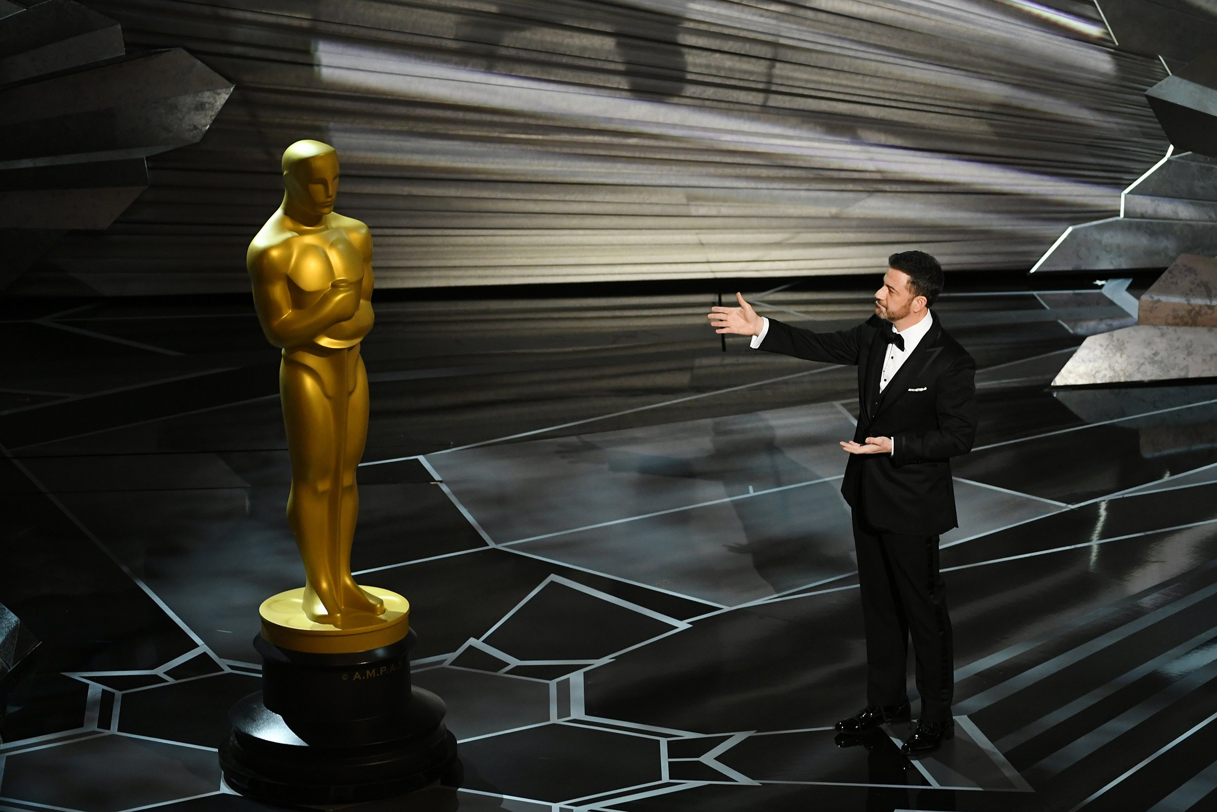Right off the bat, host Jimmy Kimmel took shots at Donald Trump during the opening of the 90th Academy Awards on Sunday night, including about the president tweeting from a gold toilet. The late-night host quipped that Trump very much liked the first three quarters of Get Out. He also said the Oscar was so …
