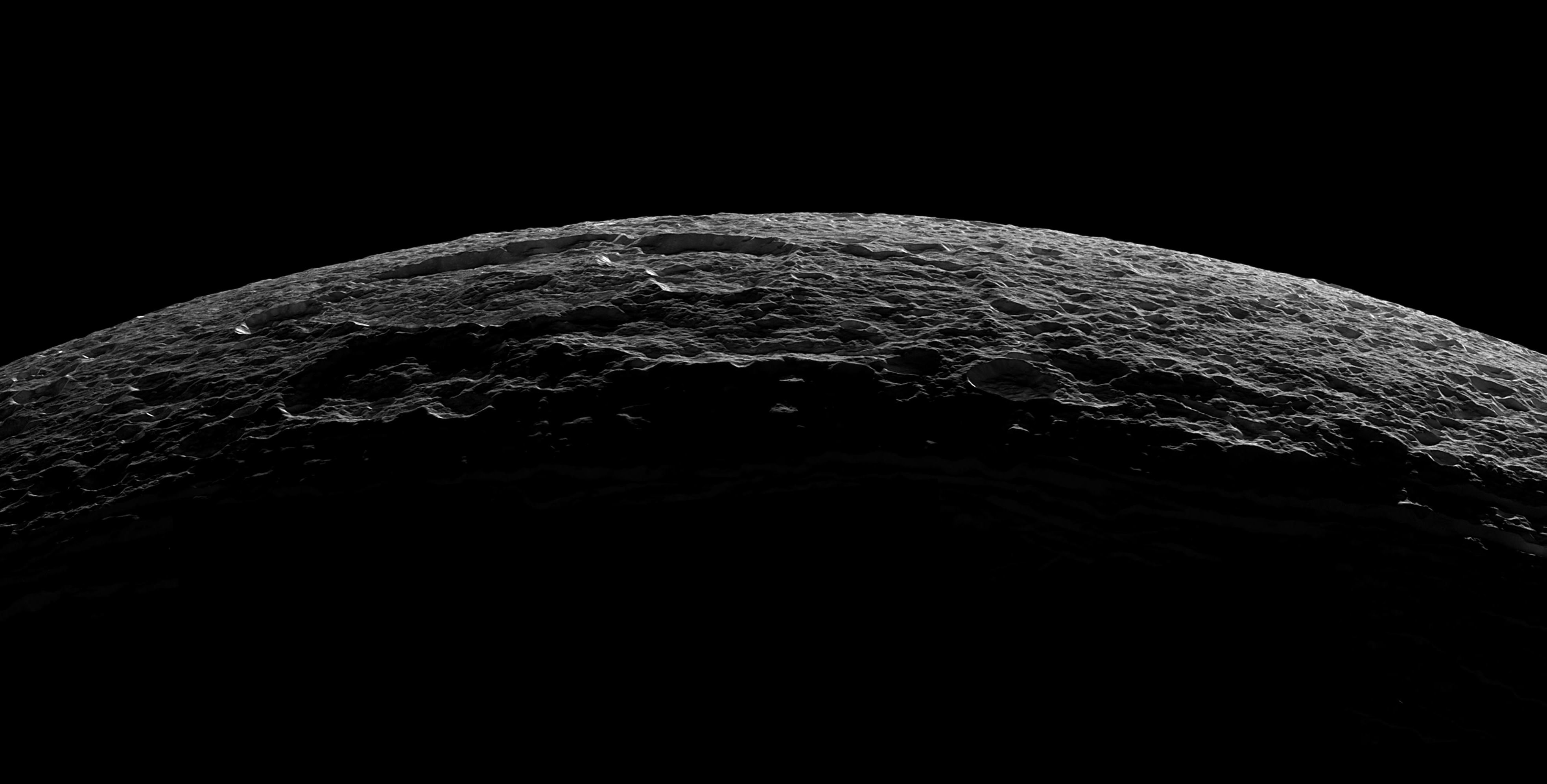 NASA captures gorgeous photo of Saturns icecovered moon Dione