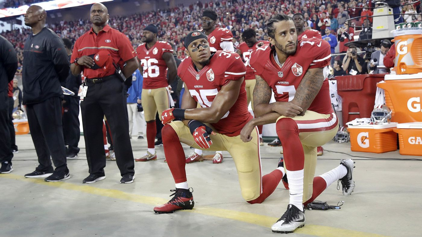 After Not Being Picked Up by a Team Former 49ers Eric Reid Says Hell Stop Protesting the National Anthem