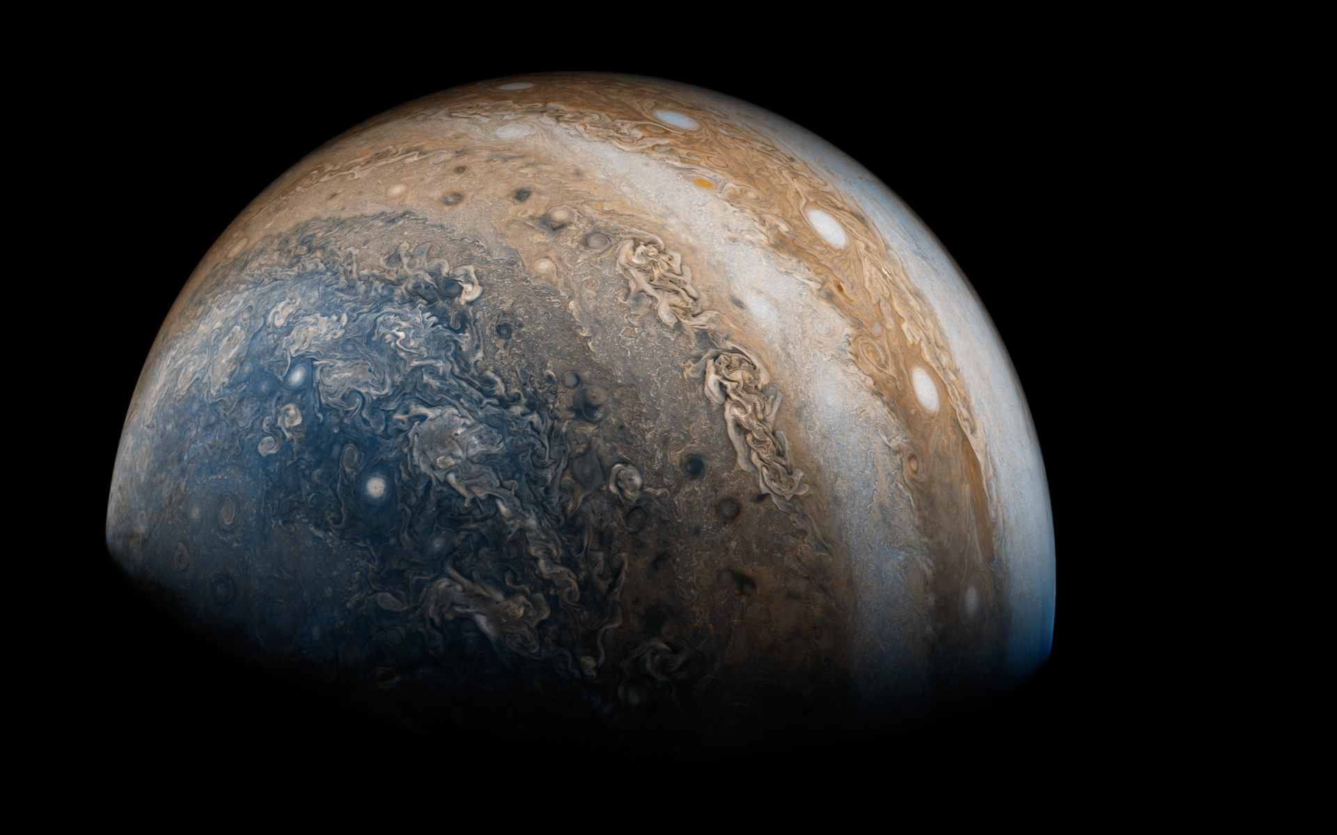 NASAs Juno probe mapped Jupiters incredible winds and the images are just nuts