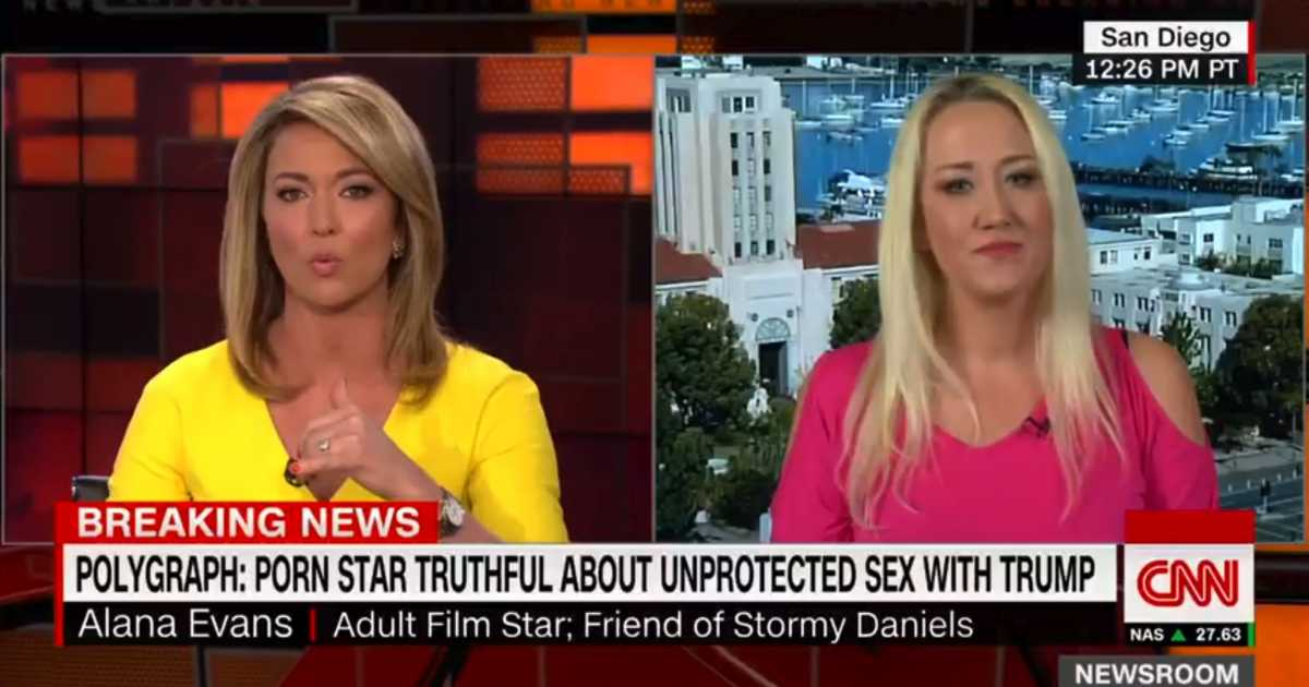 WATCH Fake News Hypocrite Brooke Baldwin Asks Porn Star For Explicit Details About What Trump Allegedly Wanted From Her