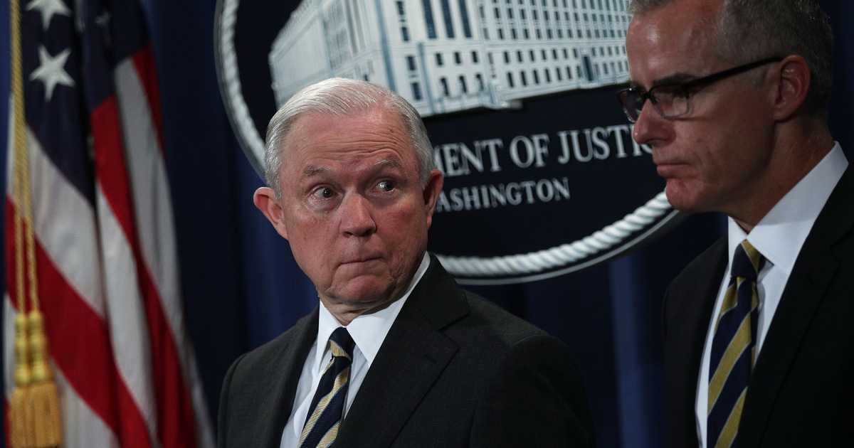 Fired FBI Official McCabe Authorized Criminal Probe Of AG Sessions