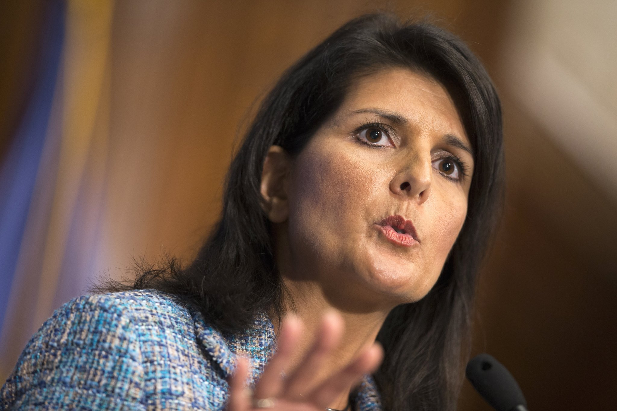 Nikki Haley warns Russia could use chemical weapons in New York