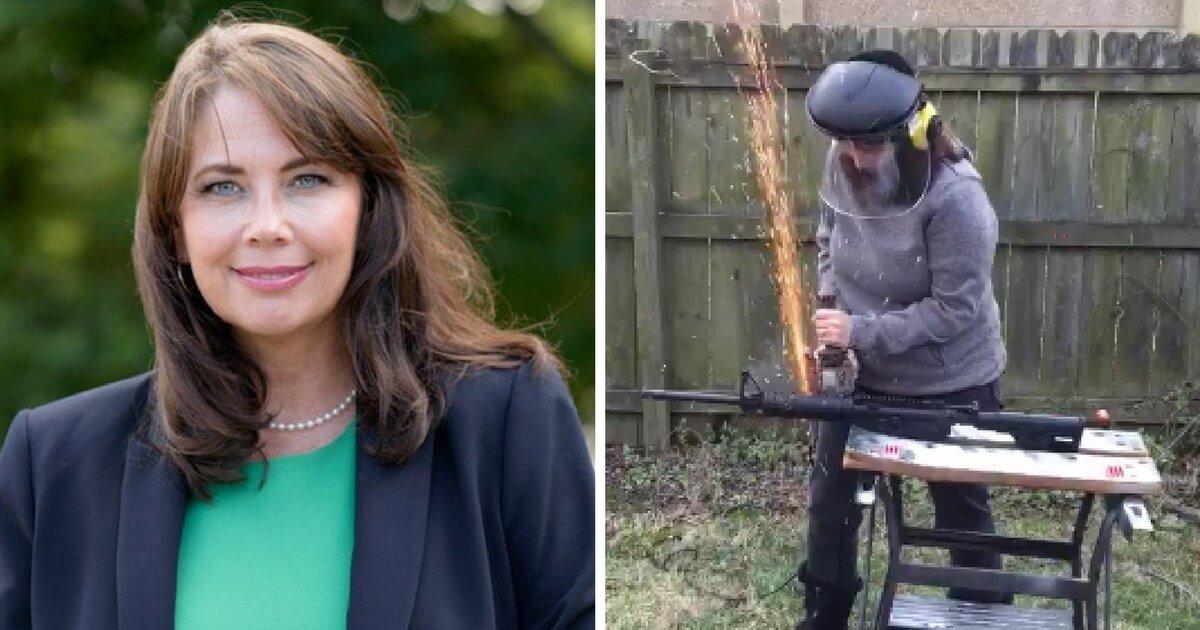 Dem Candidate Under Investigation For Destroying AR15 During Protest Stunt