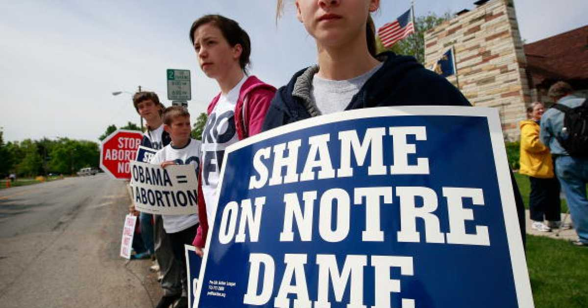 The Formerly Catholic Notre Dame Caves To Obamacare Mandate