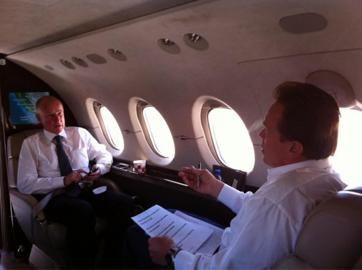 Before Suing Big Oil for Murder Schwarzenegger Commuted Daily on Private Jet