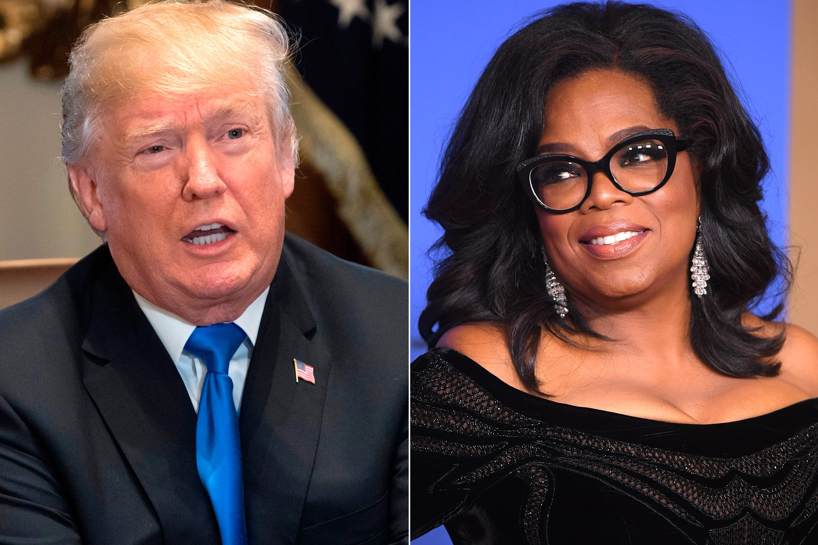 Trumps Announces Reason He Wants to Run Against Oprah She Should Be Scared VIDEO