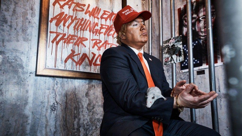 AntiTrump artists convert NYC Trump hotel room into exhibit complete with live rats